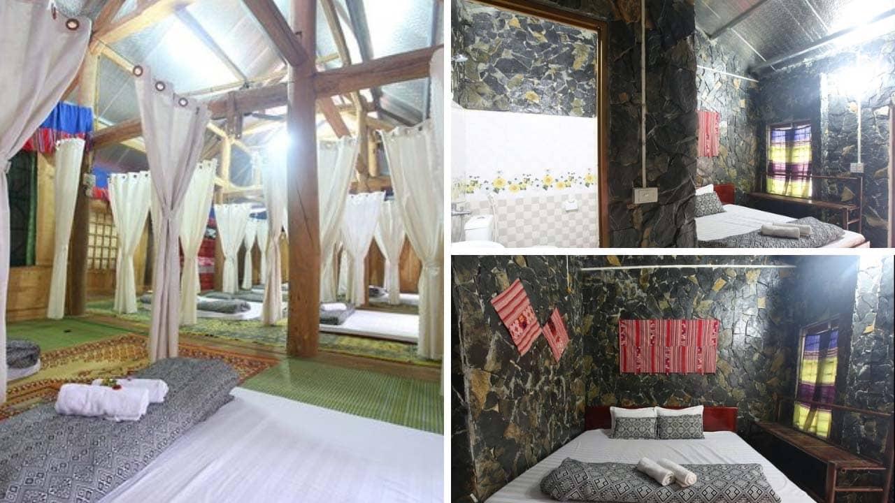 Phòng nghỉ tại Ban Mai homestay Mai Châu có đủ các loại phòng phù hợp với các gia đình