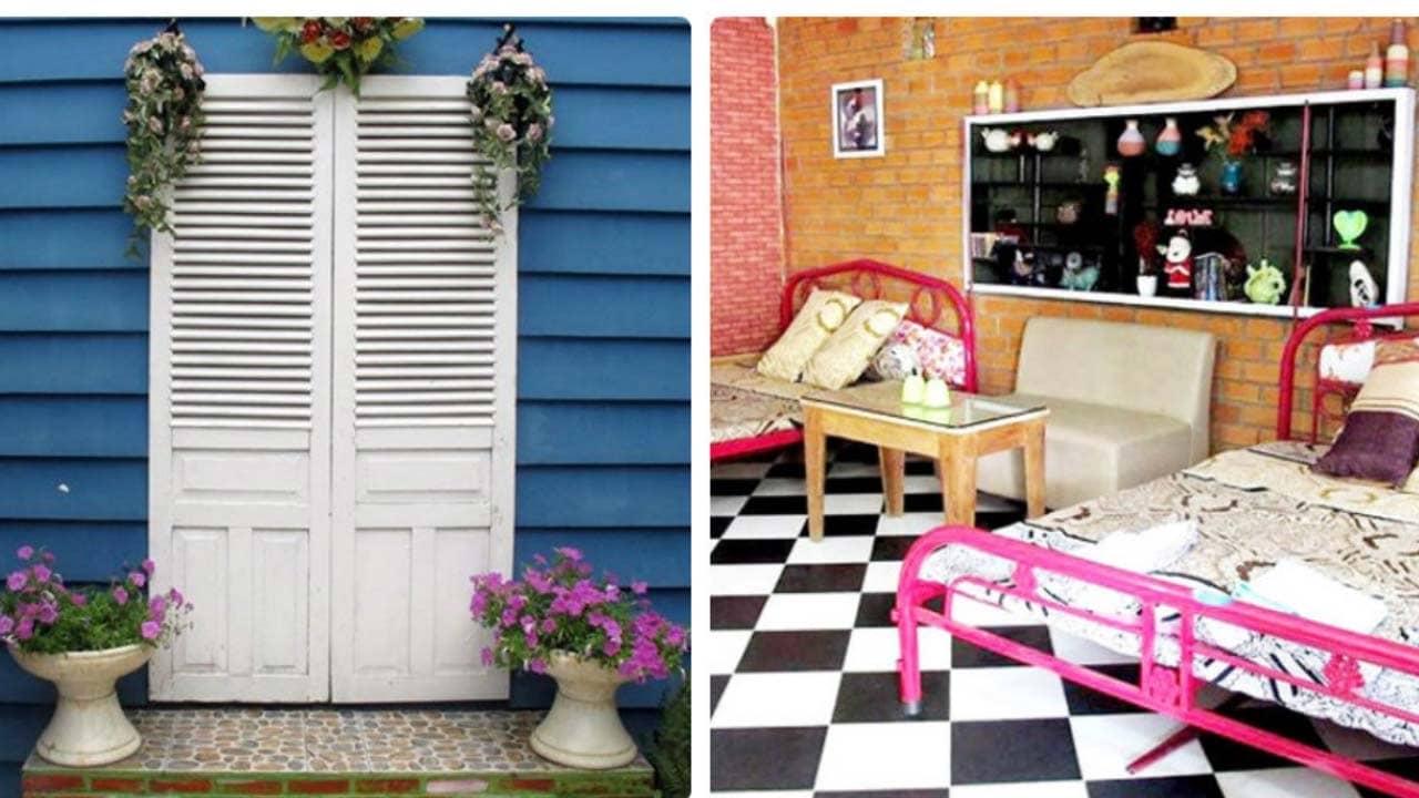 Homestay Ngộ Bảo Lộc gây ấn tưởng bởi thiết kế  dễ thương, nhiều sắc màu rực rỡ
