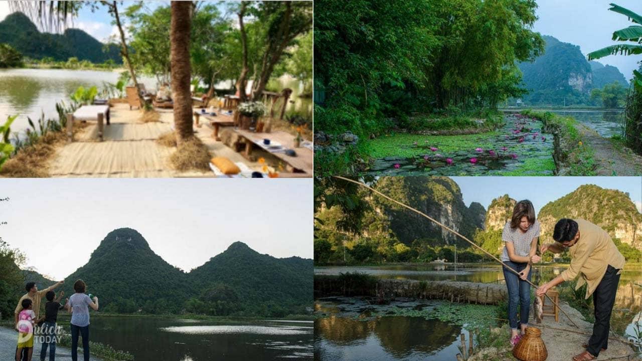 Khu vực dã ngoại bên hồ dành cho du khách tại resort