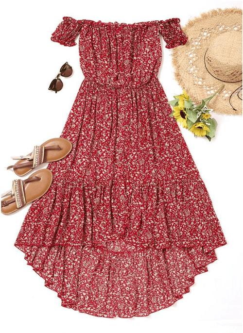 outfit váy hoa