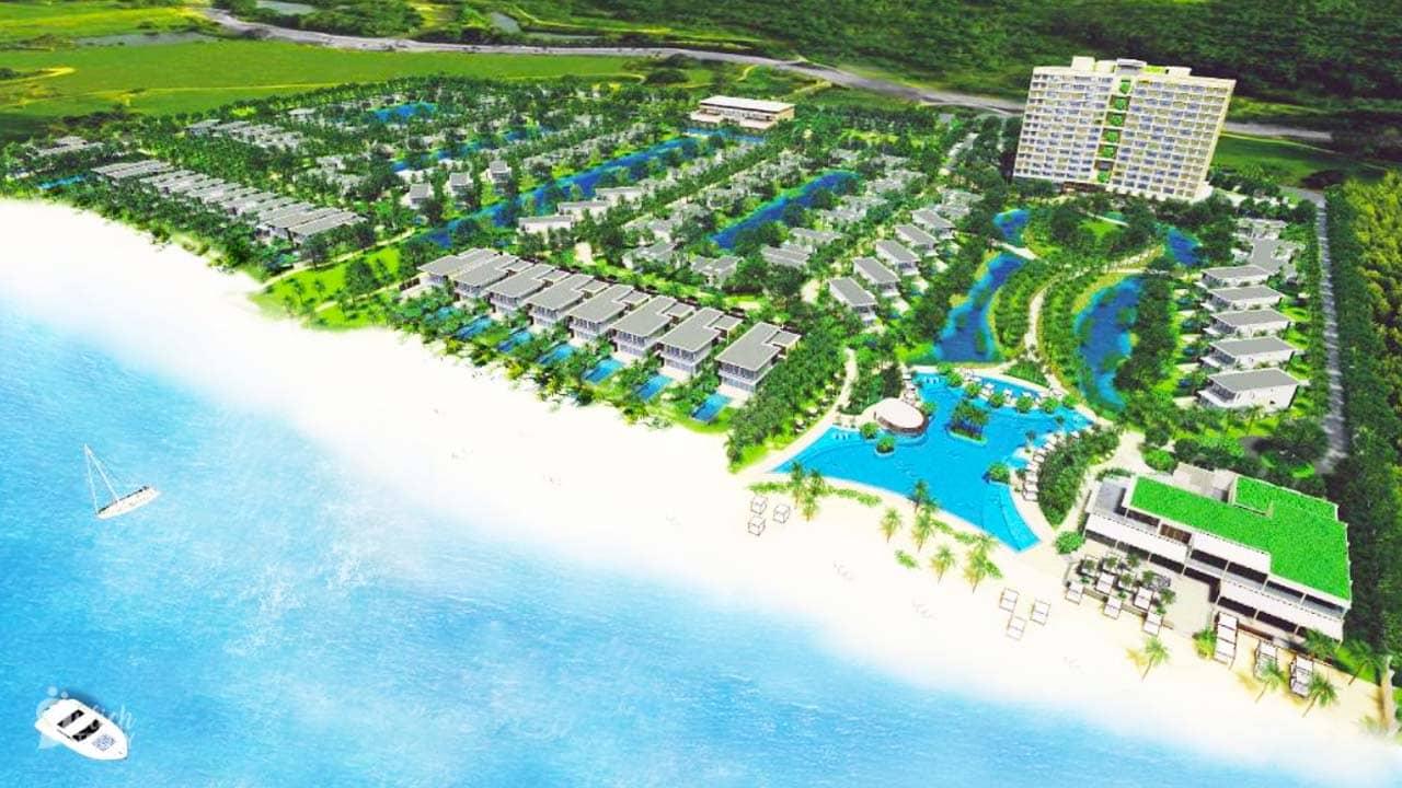 Melia Hồ Tràm Beach Resort có quy mô lớn nằm giáp bãi biển vẫn đang trong quá trình hoàn thiện một số công trình