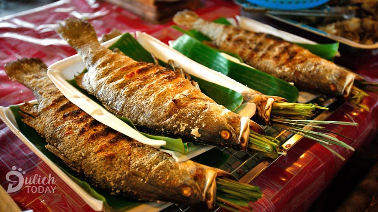 Pa pỉnh tộp món cá nướng đặc sản Tây Bắc cực hấp dẫn