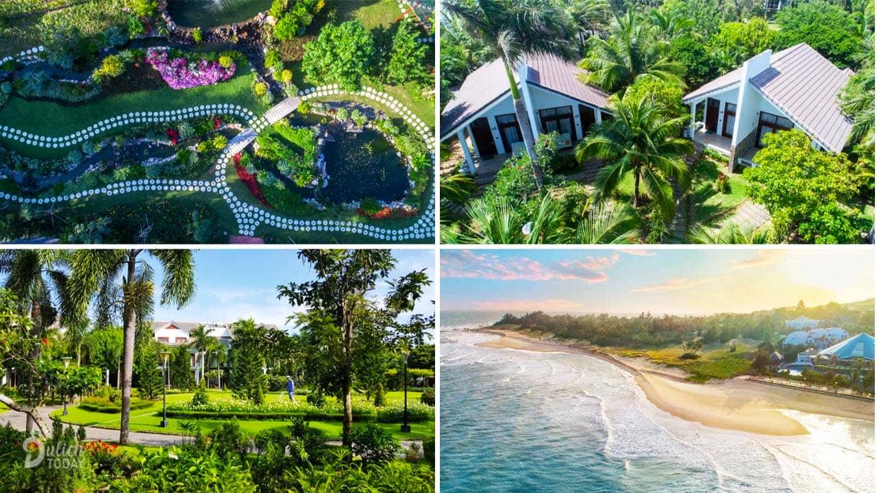 Carmelia Resort Hồ Tràm đặc trưng với khu vườn nhiệt đới cực rộng