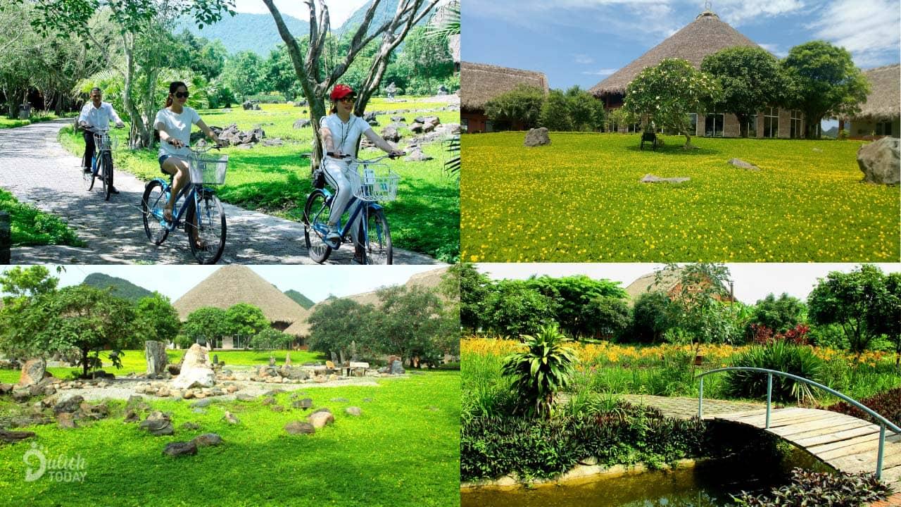 Đạp xe thăm thú trong và xung quanh resort Cúc Phương
