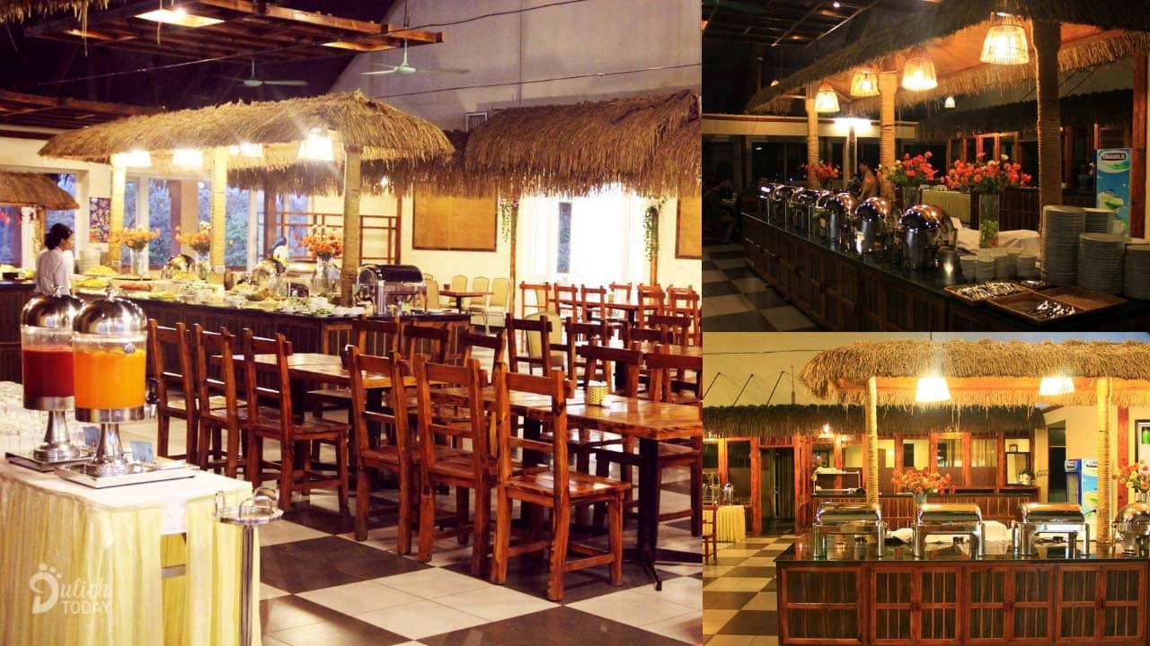 Nhà hàng bên trong resort Cúc Phương với nhiều món đặc sản ngon