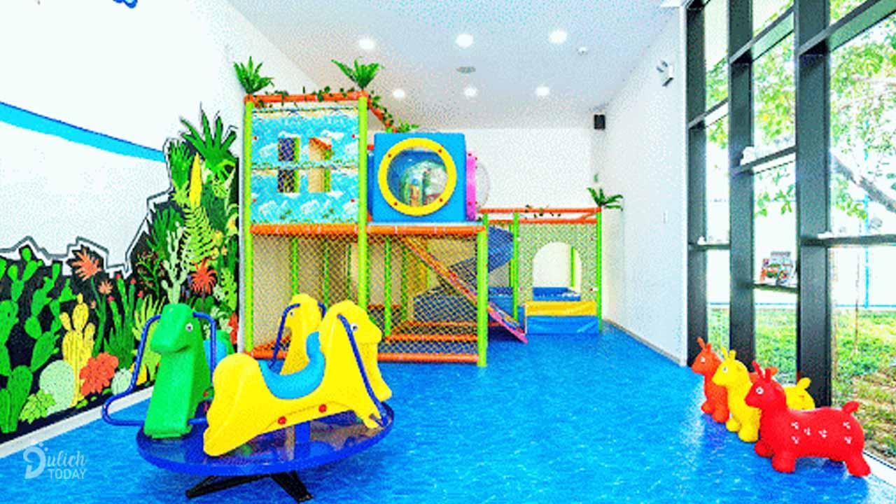 Khu vui chơi trong nhà dành cho bé tại villa Đà Lạt Tâm An