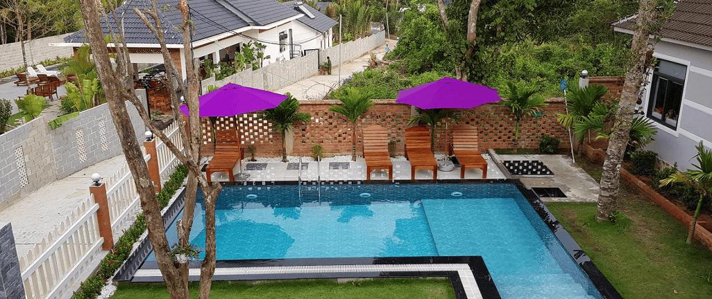 Mỗi căn biệt thự có diện tích 350m2 - 400m2, có phòng spa riêng, ban công riêng, cách âm chuẩn