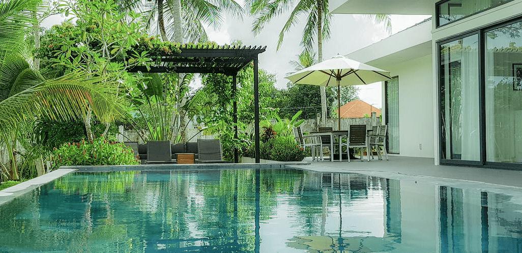 Family Villa có hồ bơi riêng được thay nước thường xuyên