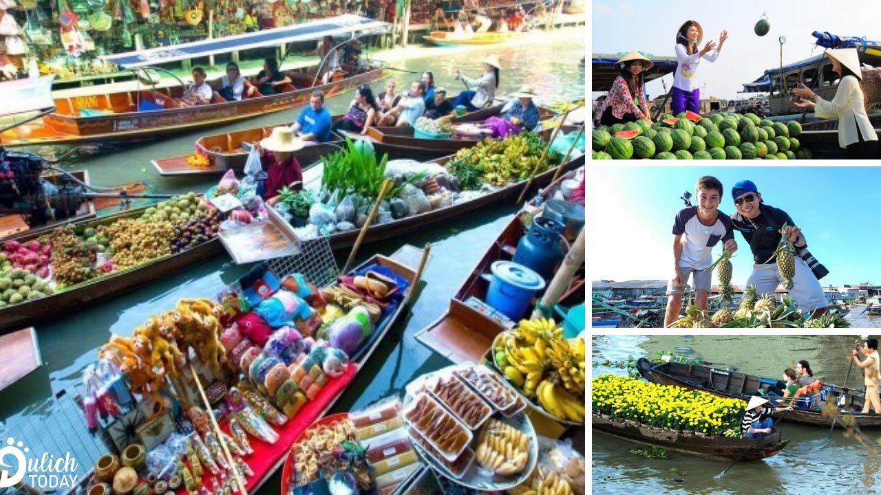 Trái cây tươi ngon của vùng miệt vườn chính là một điểm nổi bật của chợ nổi Cái Răng