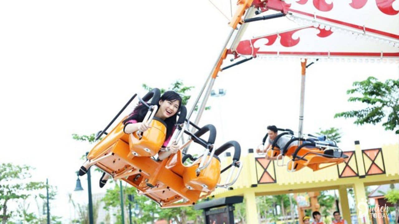 Ninja Flyer là trò chơi mới lạ được nhiều bạn trẻ ưa thích khi đến với Asia Park. Nguồn: Internet