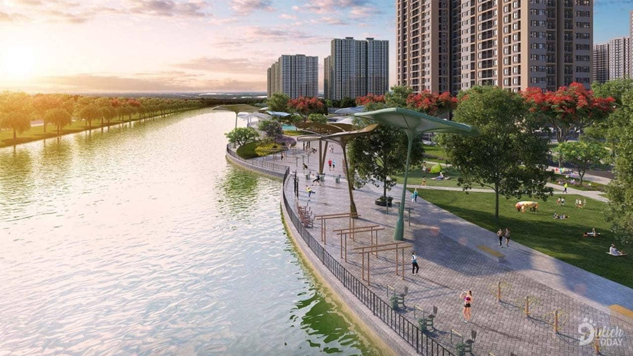 Hình ảnh 3D của dòng sông nhân tạo dự kiến hoàn thiện trong thời gian tới