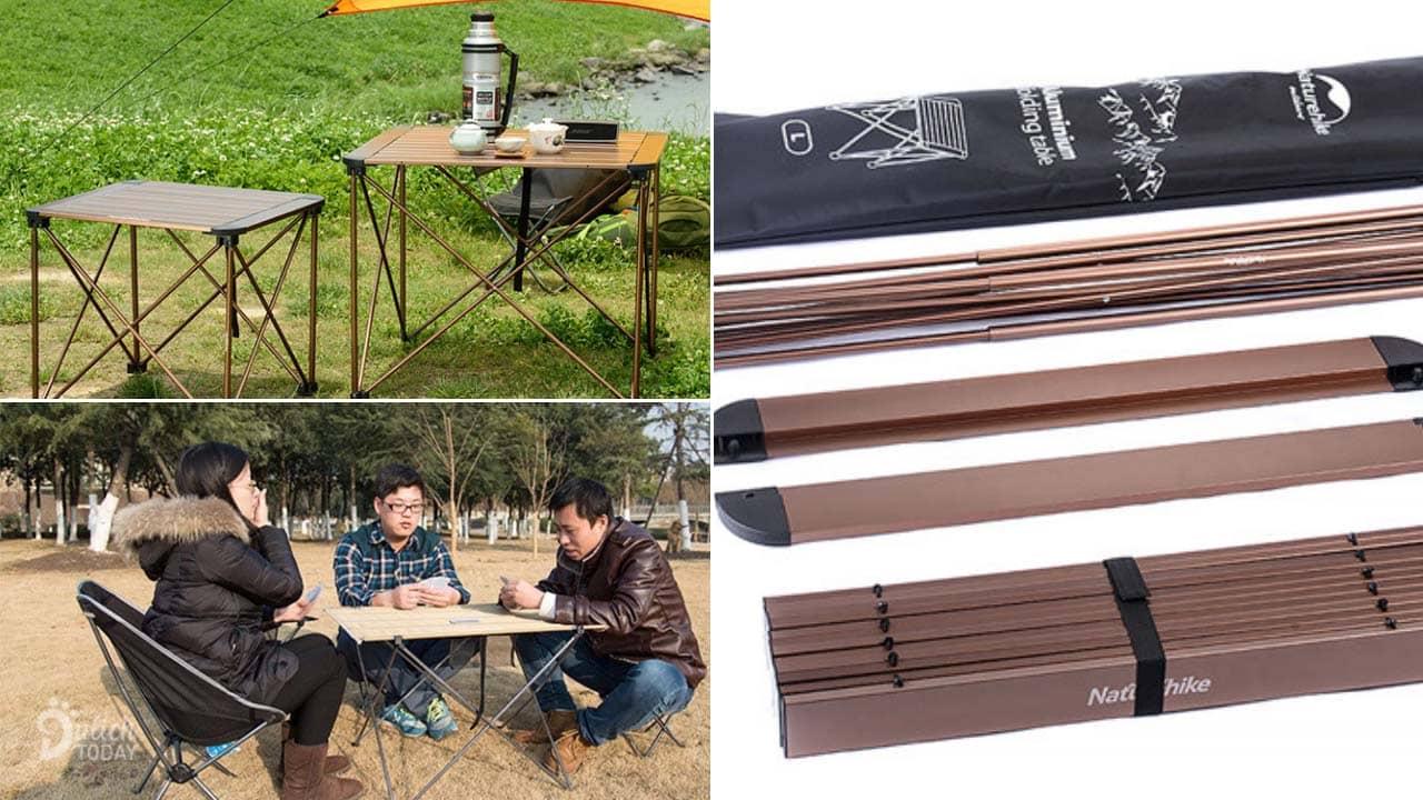 Bàn là dụng cụ cắm trại lịch sự, có thể dễ dàng tháo rời hoặc gấp lại nhỏ gọn tiện lợi