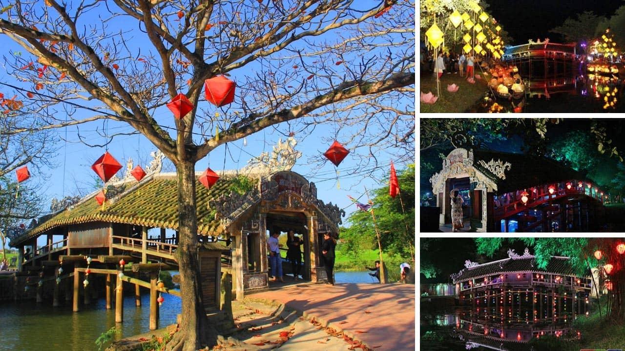 Cầu Ngói Thanh Toàn vào mùa Festival Huế