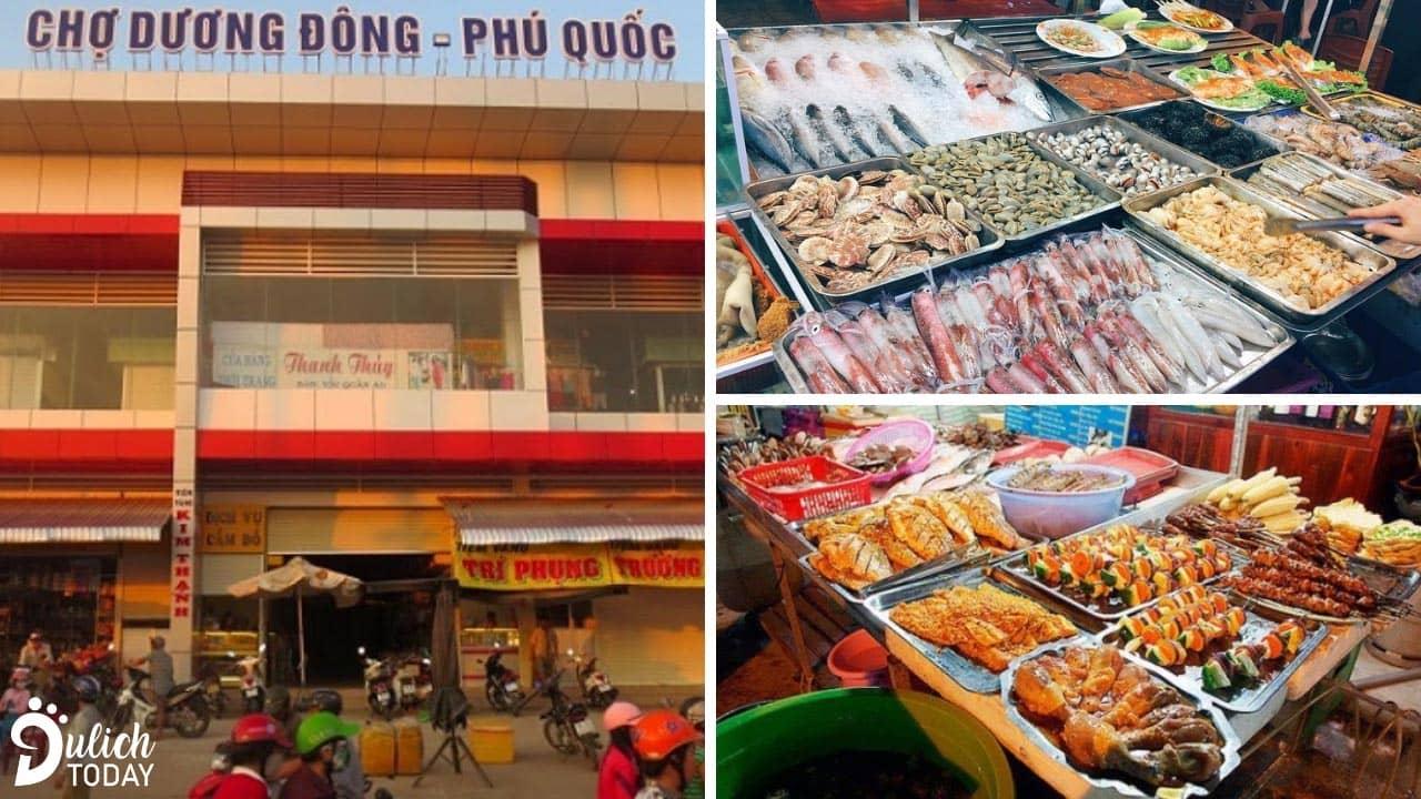 Chợ Dương Đông với muôn vàn loại hải sản của Phú Quốc để bạn lựa chọn
