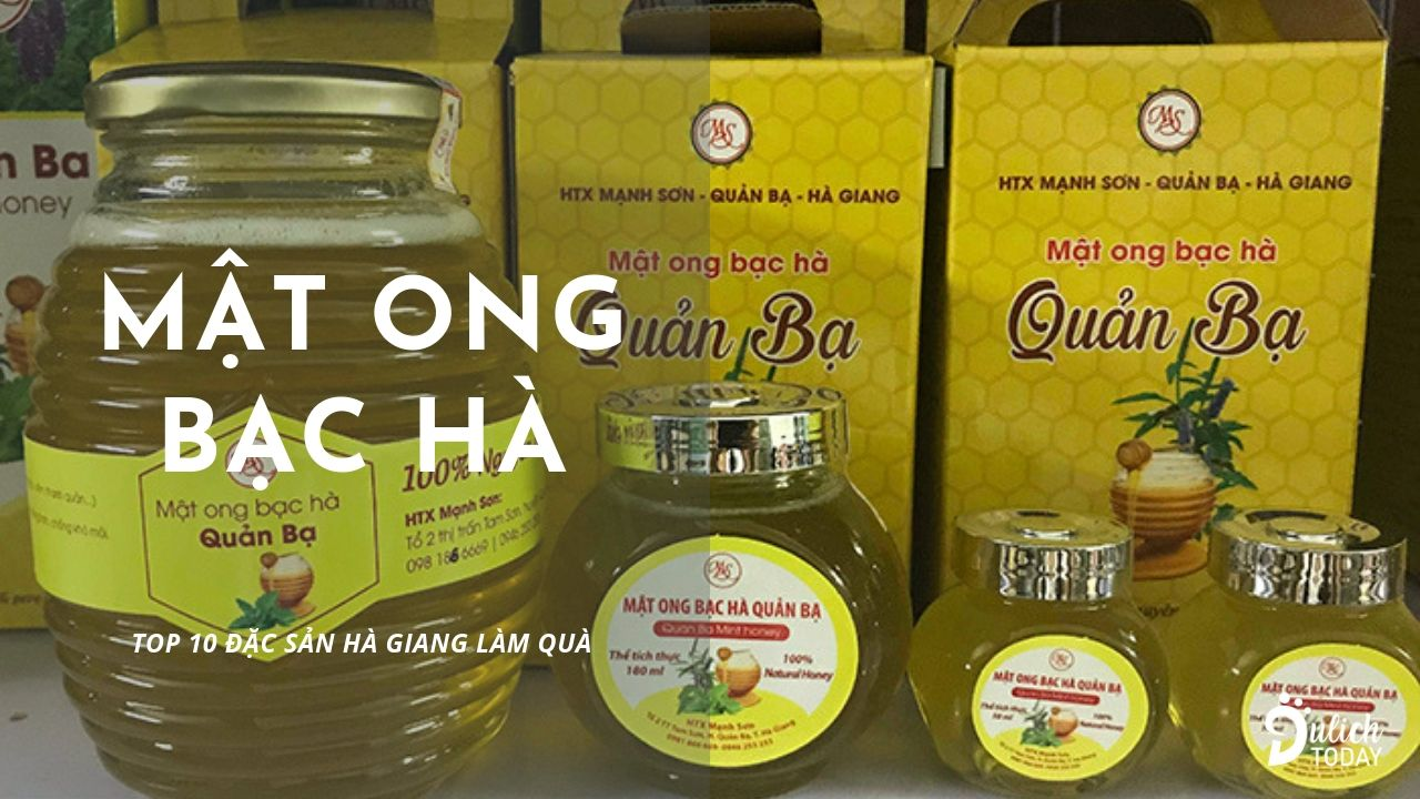 Mật ong bạc hà : đặc sản Hà Giang làm quà biếu