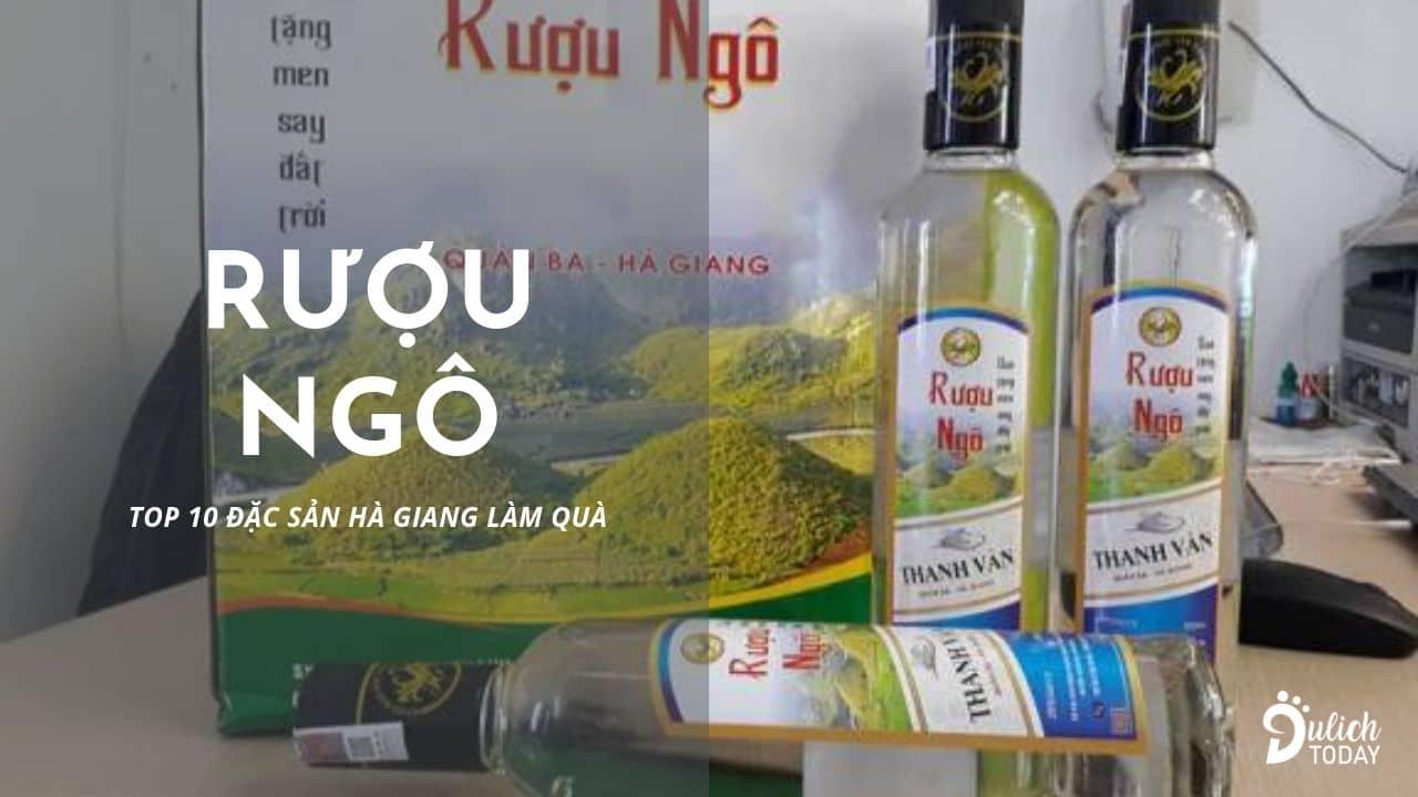 Rượu ngô Hà Giang một chén đã say