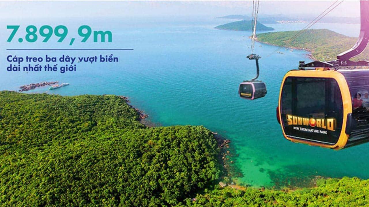 Công viên giải trí biển mới Sun World Hòn Thơm với hệ thống cáp treo vượt biển dài nhất thế giới