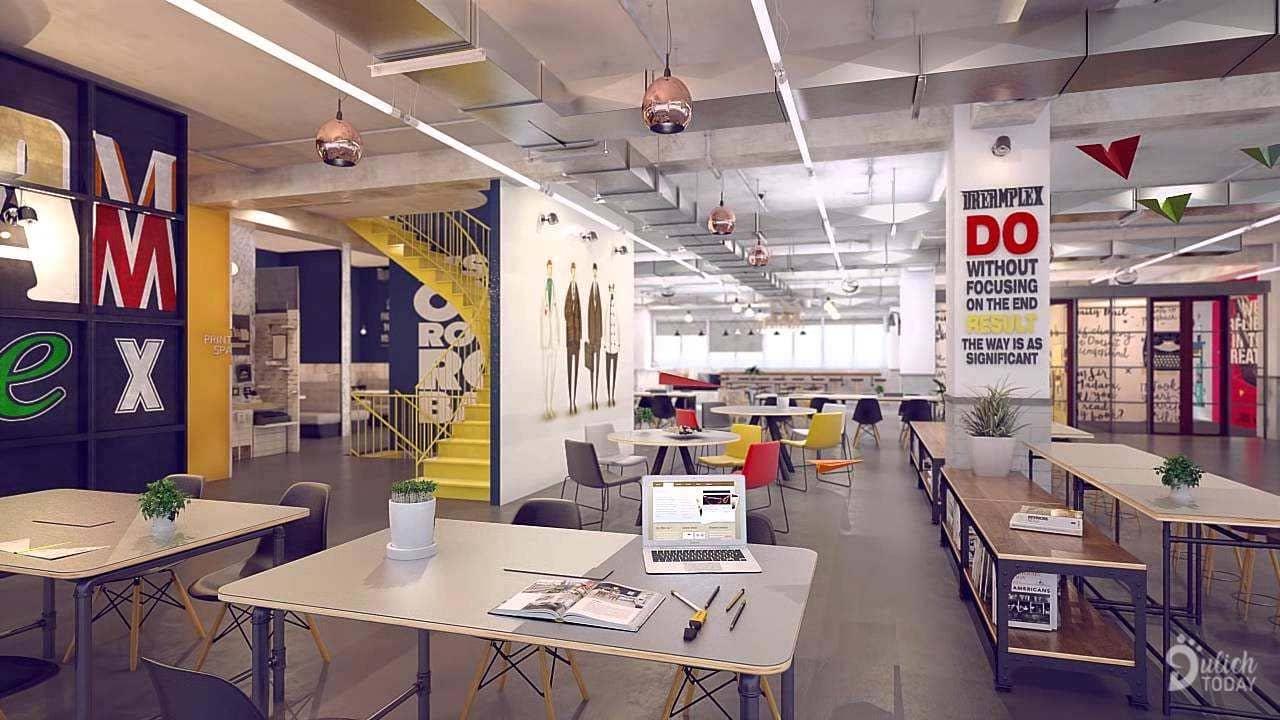 Không gian tại Dreamplex coworking space