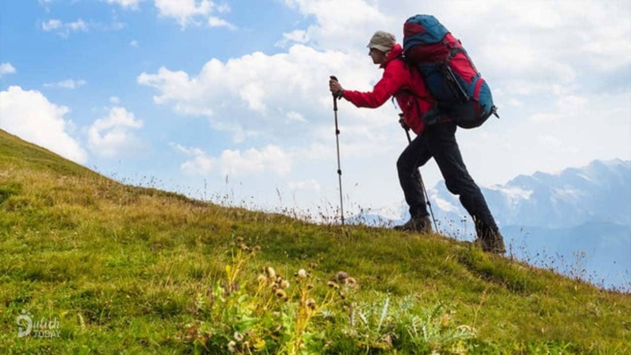 Gậy leo núi là dụng cụ cắm trại cần thiết khi đi bộ đường dài hoặc leo núi, đặc biệt là đối với những bạn bị đau mắt cá chân, đầu gối yếu
