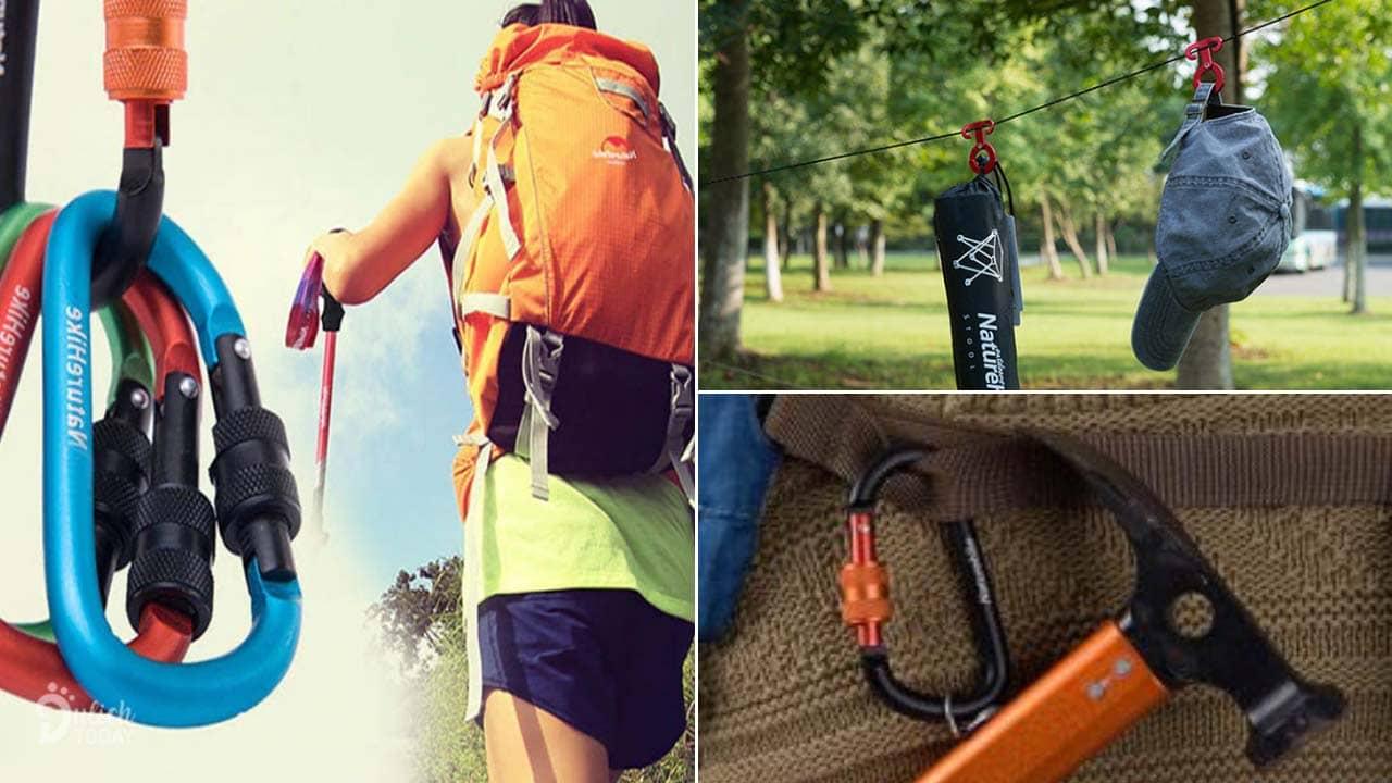 Móc khóa và bộ khóa mang đến sự an toàn, chắc chắn trong chuyến đi cắm trại