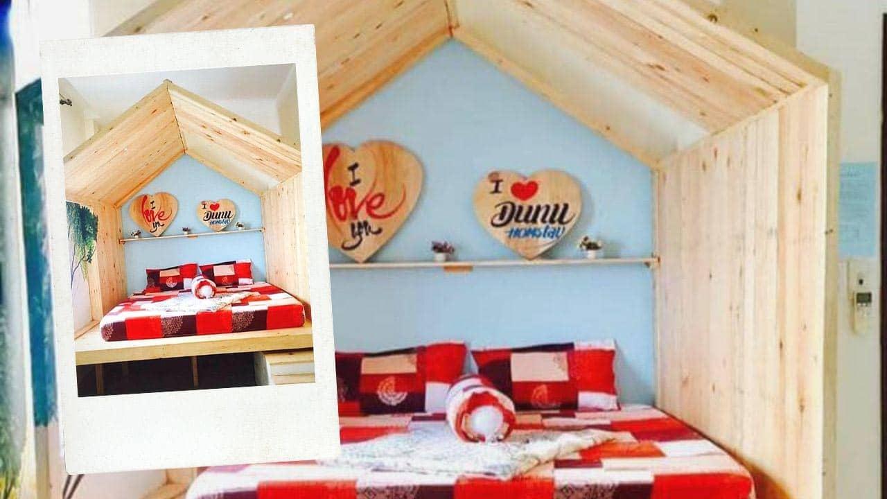 Phòng tổ chim là căn phòng nổi bật nhất tại Dunu homestay Đà Nẵng