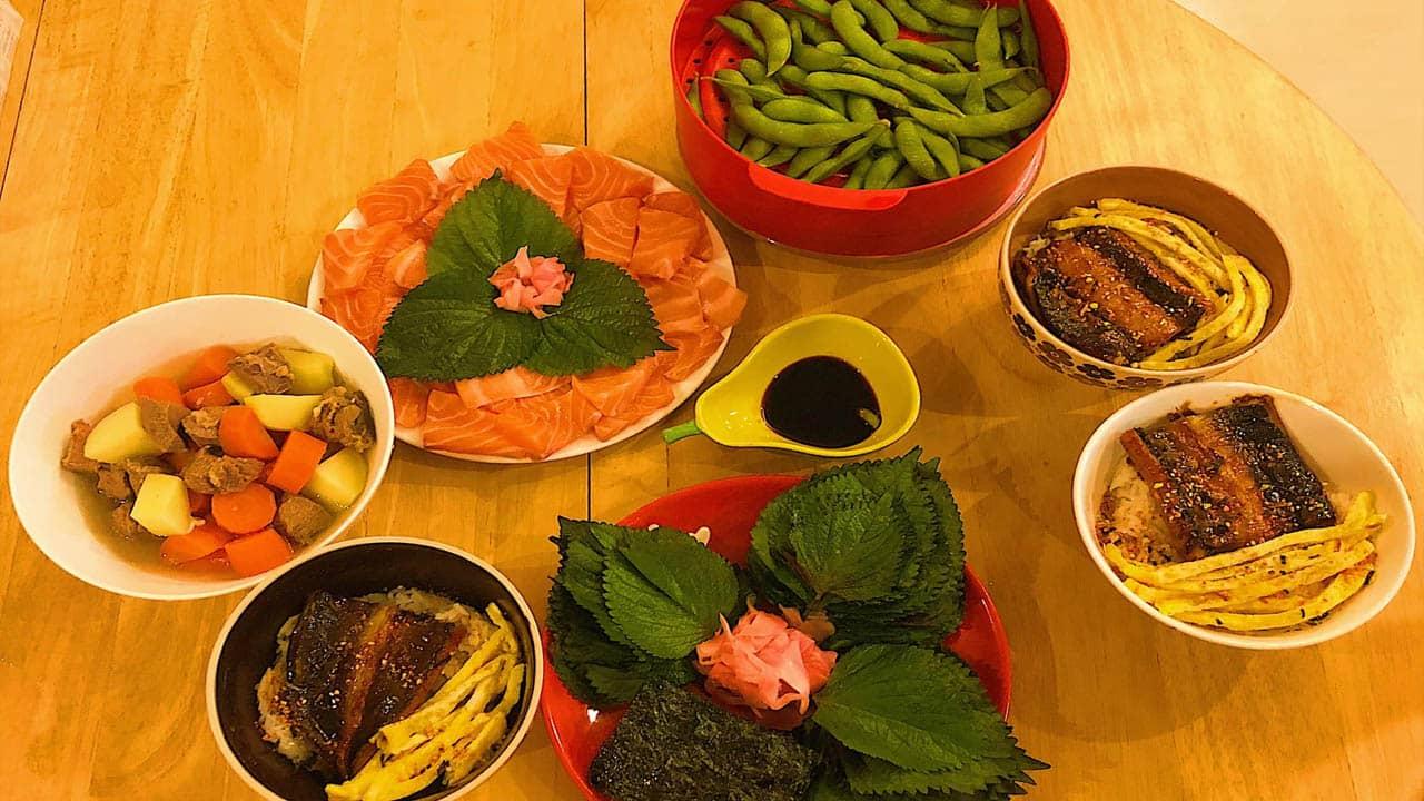 Món ăn Nhật Bản ở Halo homestay Đà Nẵng