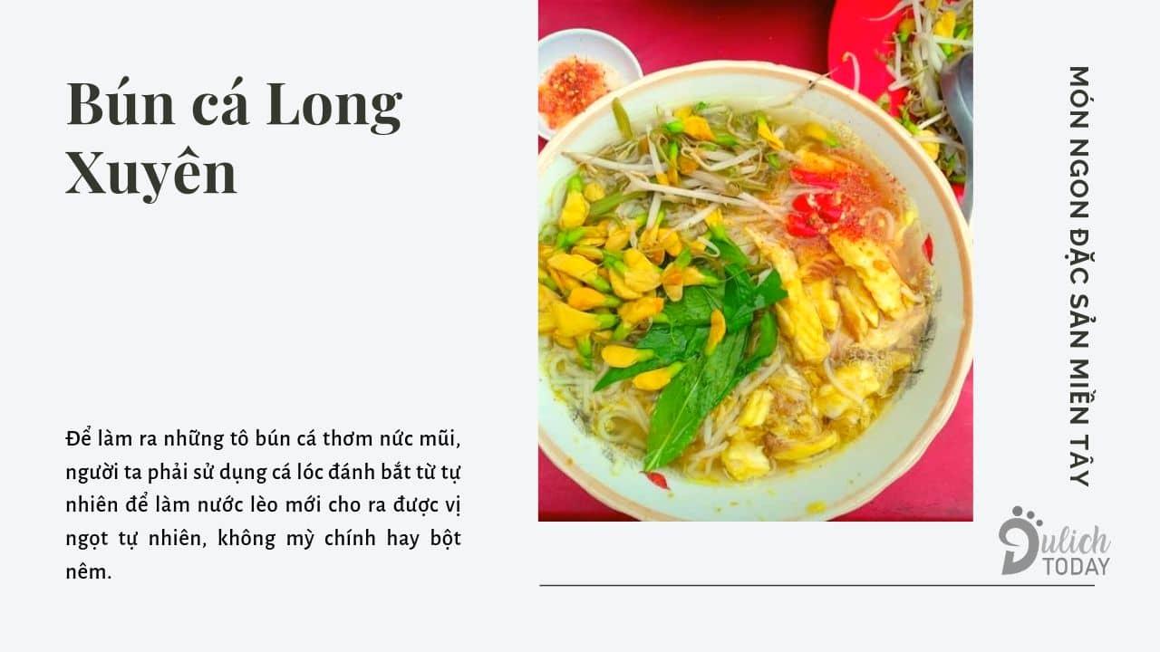 Bún cá Long Xuyên đệ nhất An Giang
