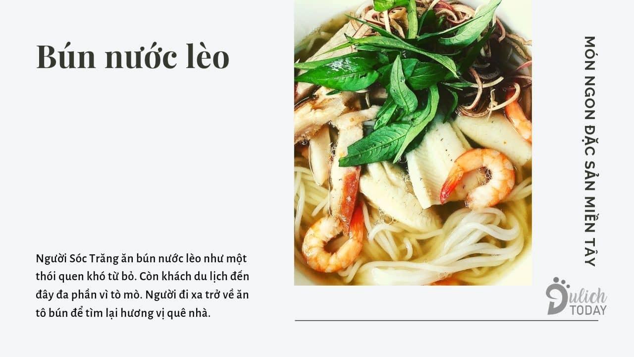 Món ngon đặc sản nức tiếng xứ chùa Dơi: bún nước lèo