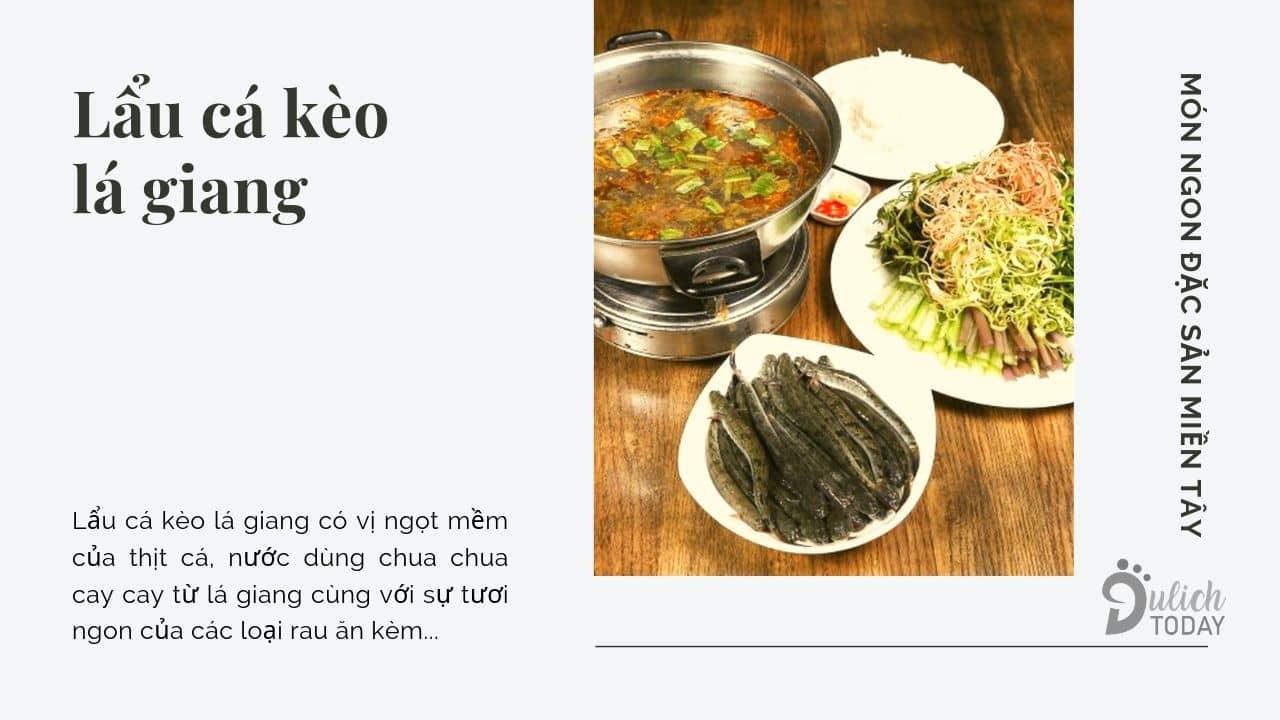 Món ngon đặc sản miền Tây lẩu cá kèo lá giang