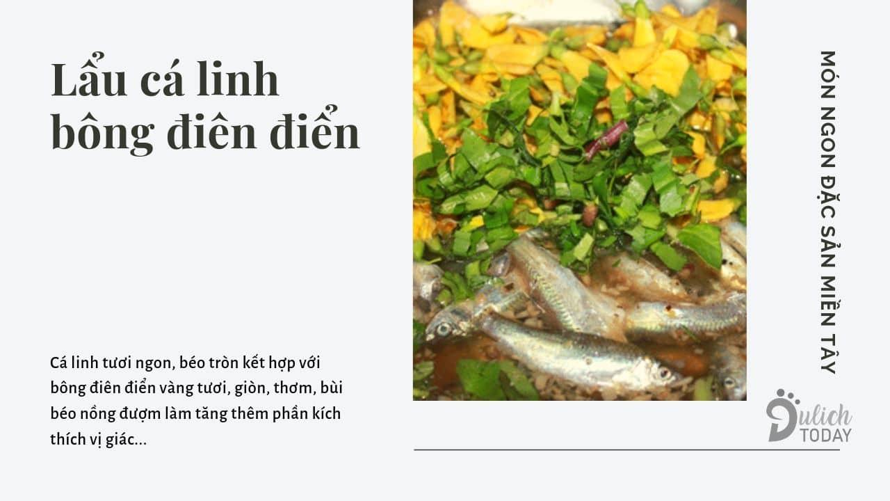 Lẩu cá linh bông điên điển - món đặc sản miền Tây mùa nước nổi