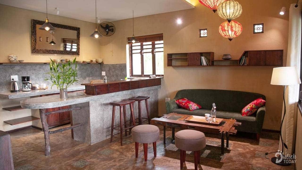 Mỗi phòng đều có một gian bếp nhỏ với nước trà cafe free mỗi ngày và du khách có thể tận hưởng những món ăn mình tự nấu
