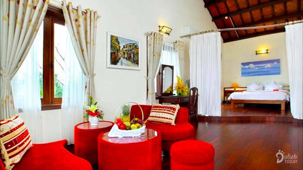 Phòng nghỉ thiết kế trang nhã và yên bình sẽ mang lại cho du khách cảm giác như đang ở trong chính ngôi nhà của minh