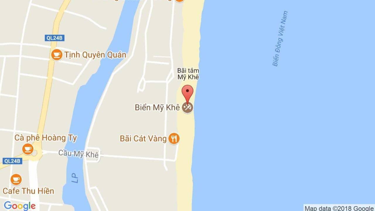 Bản đồ biển Mỹ Khê Đà Nẵng