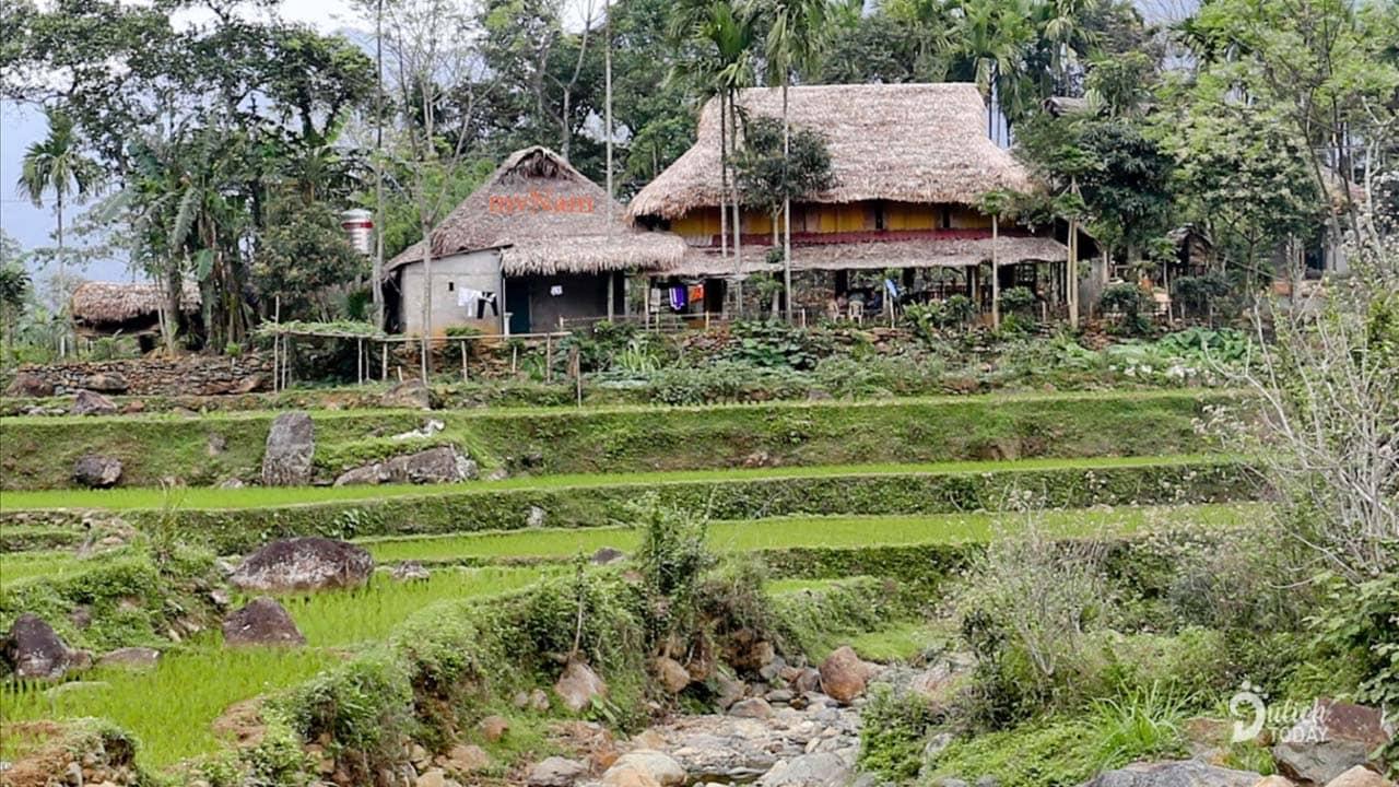 Những căn homestay Pù Luông là điểm dừng chân phổ biến cho du khách khi tới đây