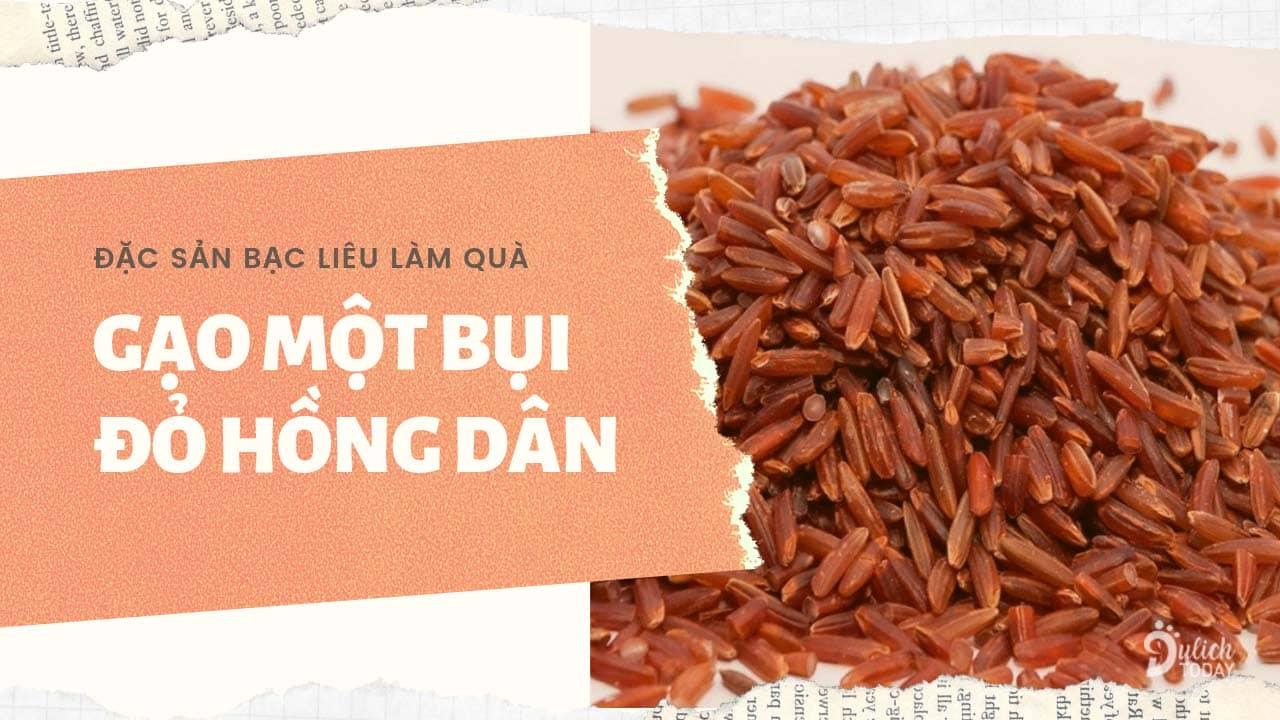 Gạo Một Bụi Đỏ Hồng Dân là đặc sản Bạc Liêu làm quà cho gia đình và bạn bè tốt cho sức khỏe