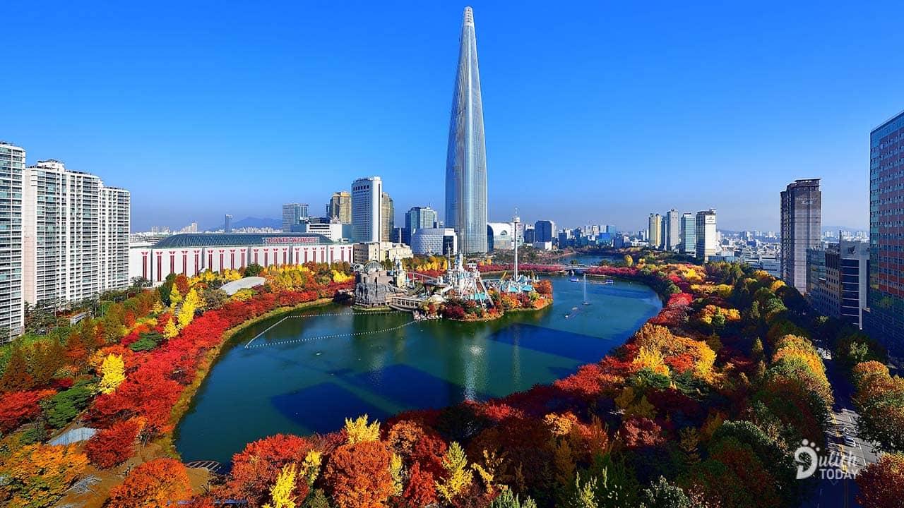 Mùa thu Hàn Quốc với thảm lá đặc trưng