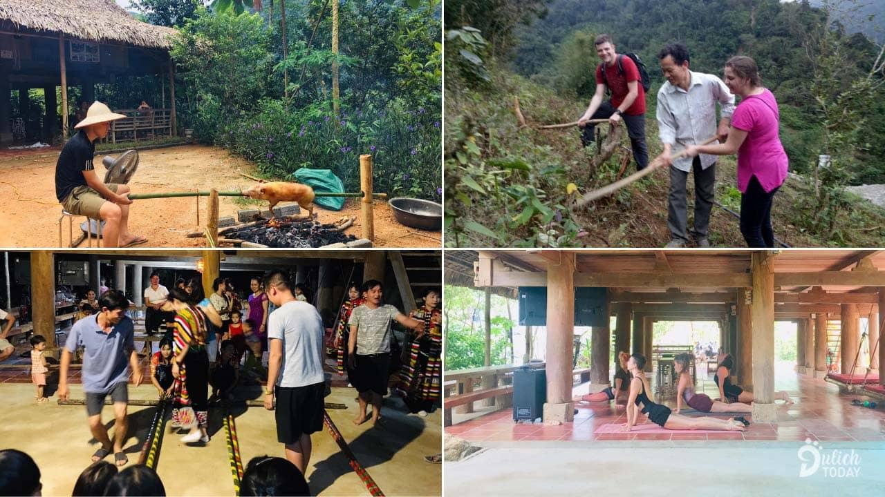 Dũng Xuân Homestay Pù Luông mang đến nhiều hoạt động trải nghiệm dành cho du khách