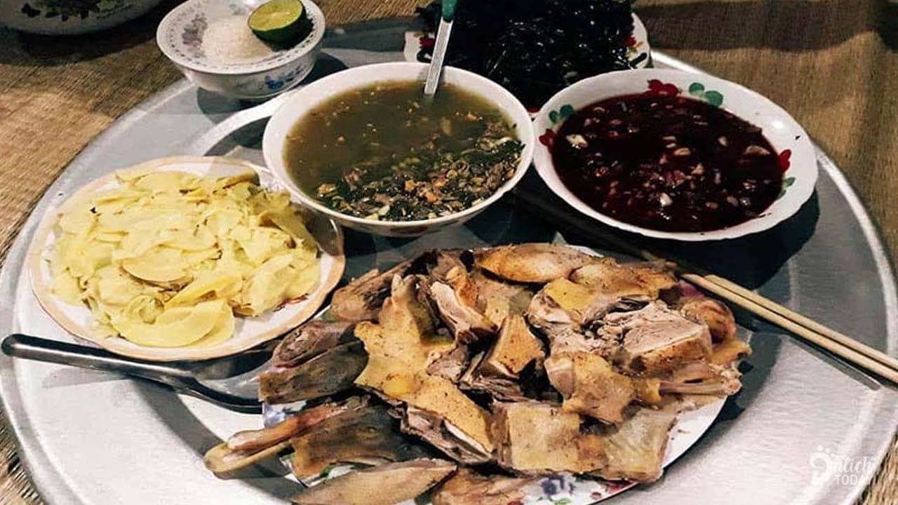 Những món ăn được phục vụ ở Nguyễn Lan homestay Pù Luông
