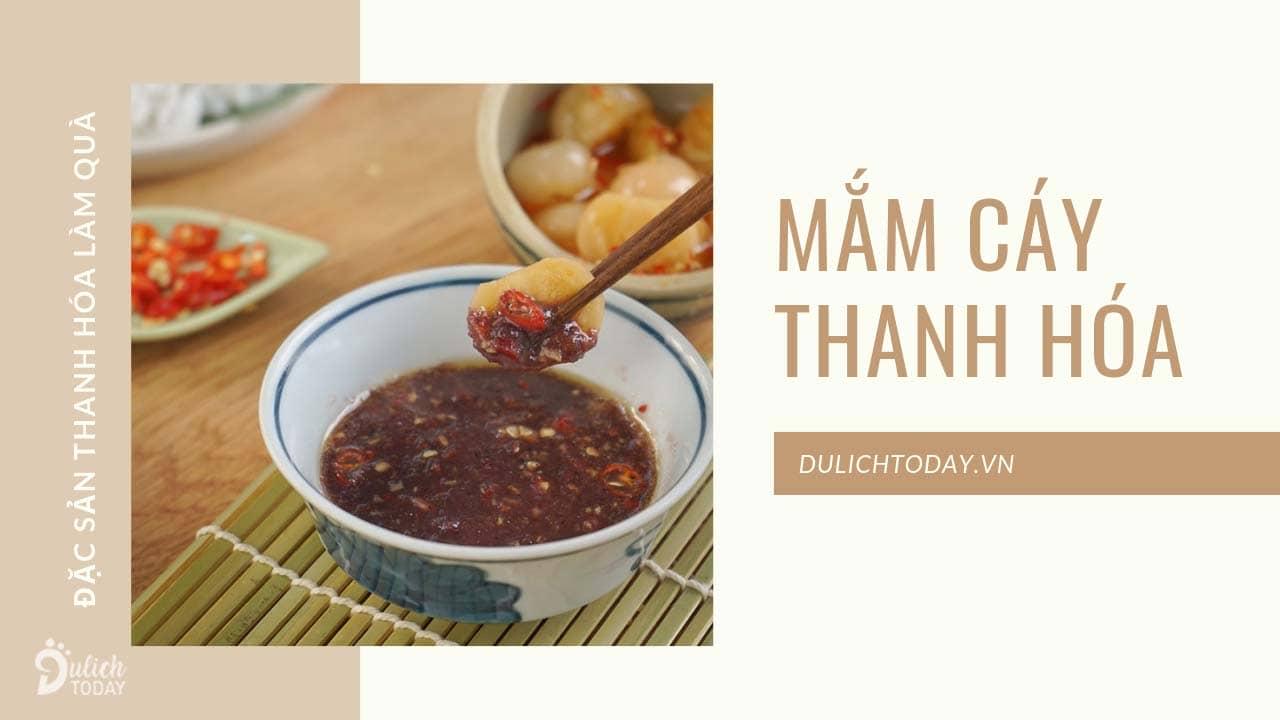 Mắm cáy là đặc sản Thanh Hóa làm quà cho những món chấm trên bàn ăn