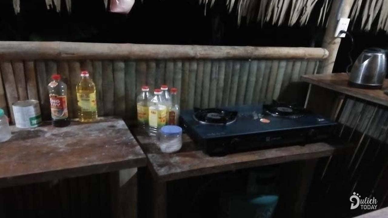 Khu bếp ở Pu Luong HolidayHomestay