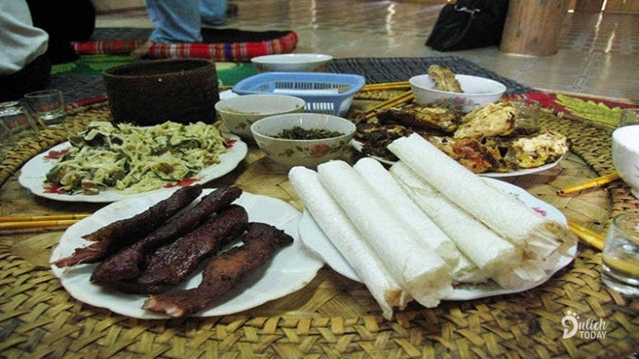 Những món ăn được phục vụ ở Pù Luông homestay