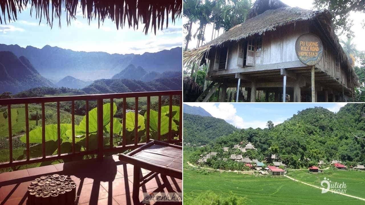 Pù Luông Rice Road Homestay là nơi được du khách đánh giá có view đẹp nhất