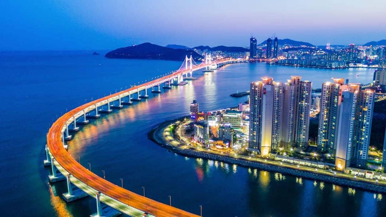 Cầu Gwanganlii - cây cầu treo trên biển dài nhất tại Hàn Quốc