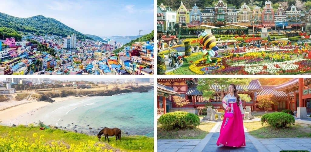 Lịch trình Tour Hàn Quốc 6 ngày 5 đêm cũng bắt đầu từ việc tham quan các địa danh nổi tiếng tại Incheon, Jeju, Seoul.