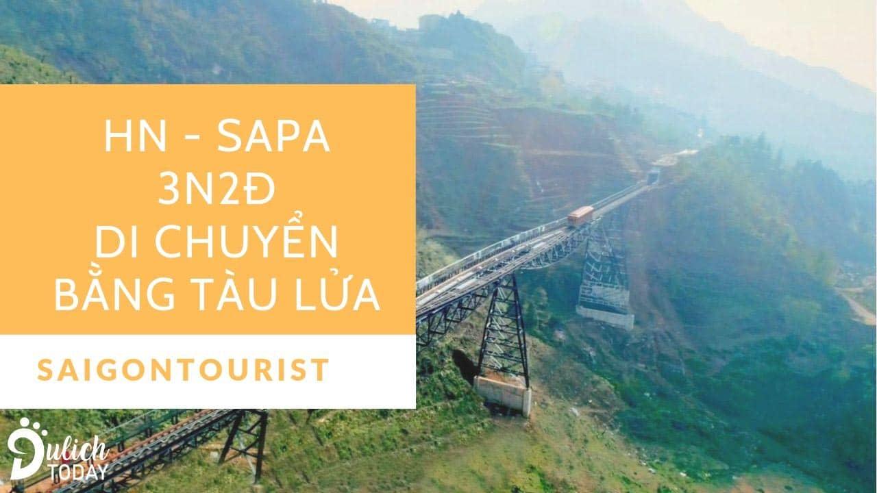 Tour Sapa 3 ngày 2 đêm Saigontourist di chuyển bằng tàu lửa