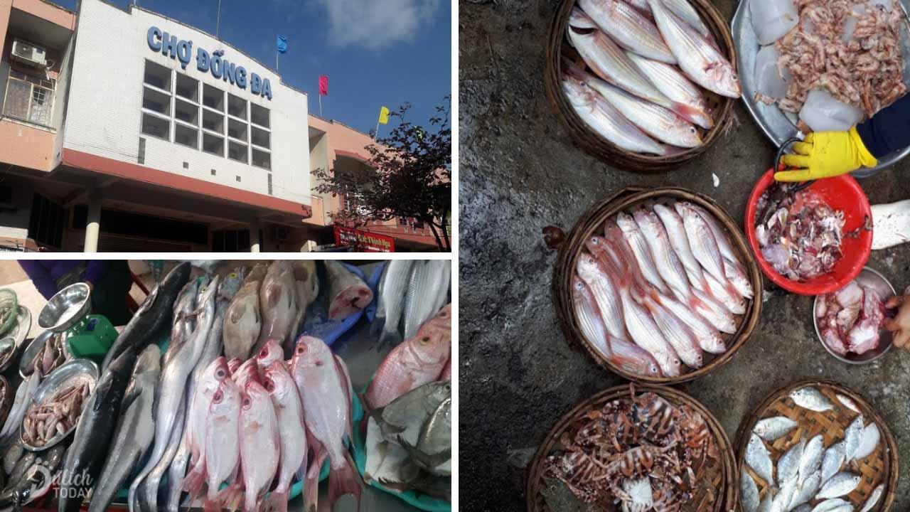 Chợ hải sản Đống Đa phong phú hải sản tươi sống