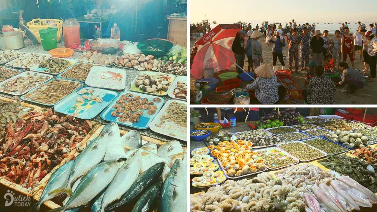Chợ hải sản Đà Nẵng có vị trí đắc địa