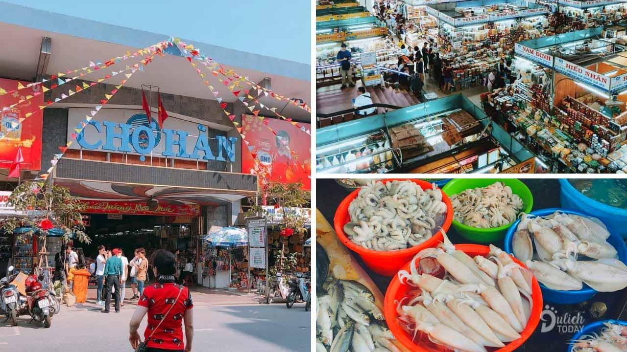Chợ Hàn là một chợ mua sắm lớn ở trung tâm thành phố Đà Nẵng