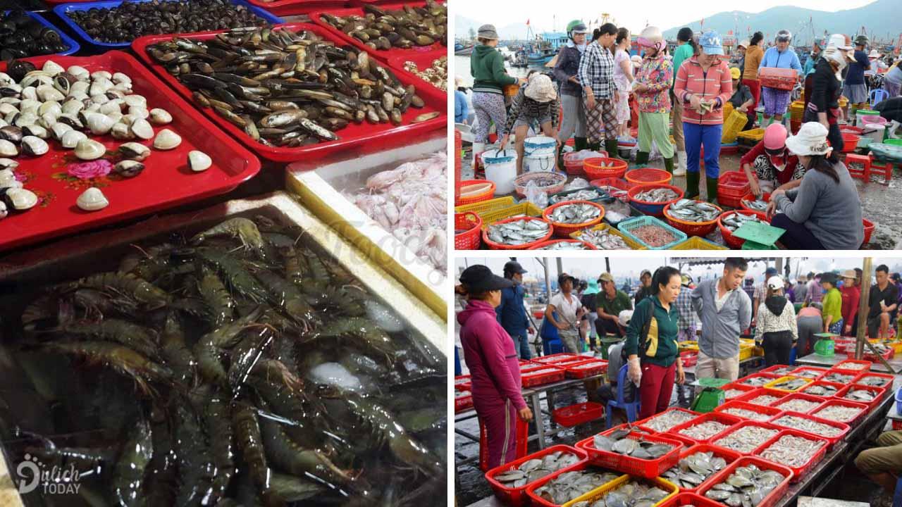 Chợ đầu mối thủy sản Thọ Quang - chợ phân phối thủy hải sản lớn nhất miền Trung