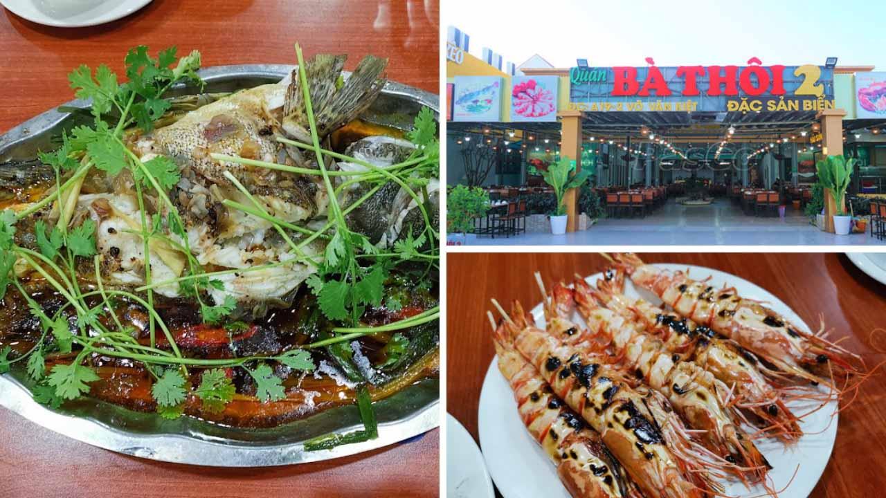 Hải sản bà Thôi - nhà hàng hải sản nổi tiếng lâu đời tại Đà Nẵng